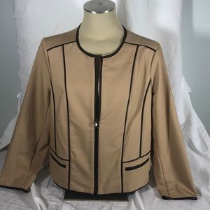 Chicos beige cord lined jacket